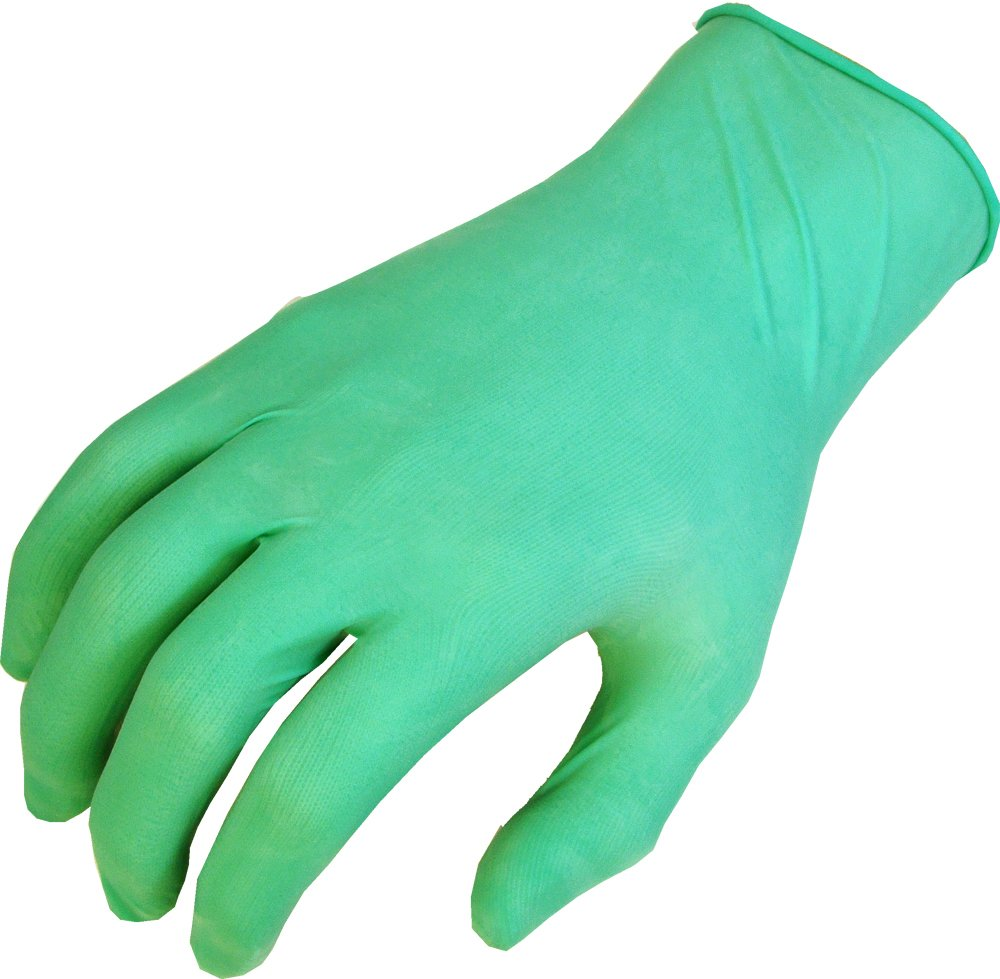SHOWA 1005  Natural Rubber Glove, Rolled Cuff, Lightly Powdered, 5 mils Thick, 9.5'' Length, Small (Pack of 100)