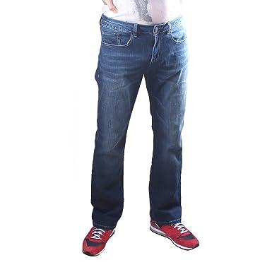 35e579daa206da ACCEDE Men's Classic Straight-Fit Jeans: Amazon.co.uk: Clothing