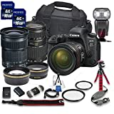 Canon EOS 6D Mark II DSLR Camera Bundle w/Canon EF 24-105mm f/3.5-5.6 is STM Lens + Tamron 70-300mm f/4-5.6 Telephoto Lens + 2pc PROSPEED 16GB Memory Cards + Premium Accessory Bundle Kit (18 Items)