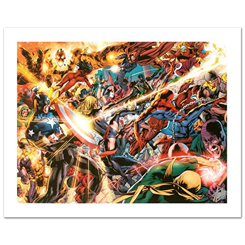 "Stan Lee Signed MARVEL Limited Edition Canvas ""New Avengers #50"""
