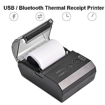 Richer-R Mini impresora térmica, Mini impresora de recibos ...