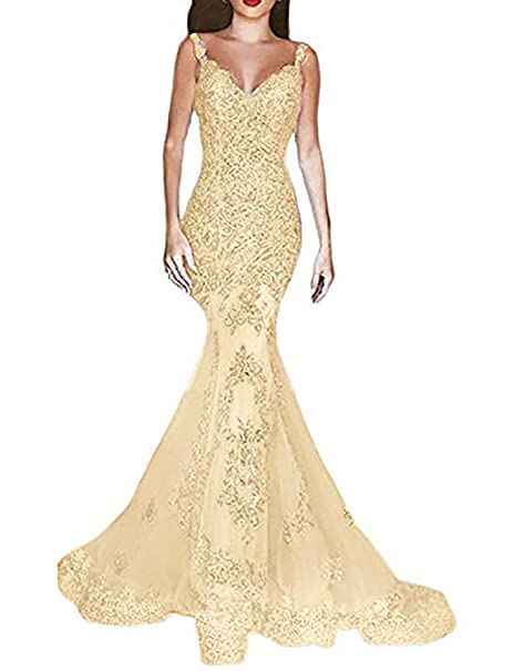 067831ccddb OYISHA Women s Formal Sequin Mermaid Prom Dresses Long V-Neck Wedding  Evening Pageant Dress EV44