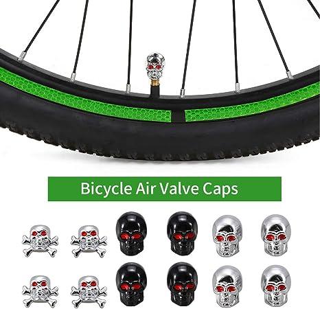 Explopur Tapa de Válvula - 4 Unids Tapas de Válvulas de Bicicleta ...