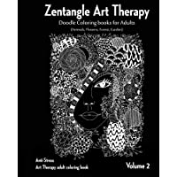 Zentangle Art therapy : Zentangle Doodle Coloring books for Adults : Animals, Flowers, Forest, Garden: (Anti-Stress Art…