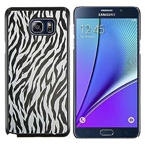 Caucho caso de Shell duro de la cubierta de accesorios de protección BY RAYDREAMMM - Samsung Galaxy Note 5 5th N9200 - Modelo de la cebra Textura Animal