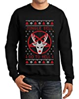 Slayer Pentagram & Skulls Adult Christmas Sweater at Amazon Men's ...