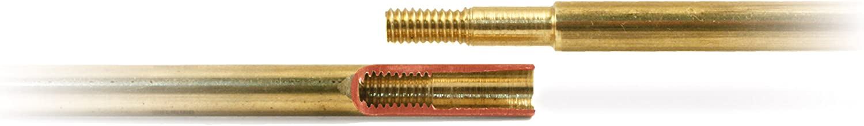 5-Teiliger Putzstock zur Waffenpflege aus Messing mit kugelgelagerten Griff M4-Innengewinde mit Einf/ührhilfe L/änge 790 mm