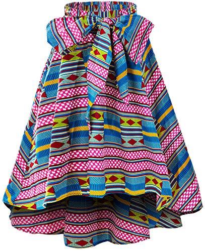 Shenbolen Women African Traditional Costume Flower Print Casual Dashiki Skirt (XXX-Large,H)]()