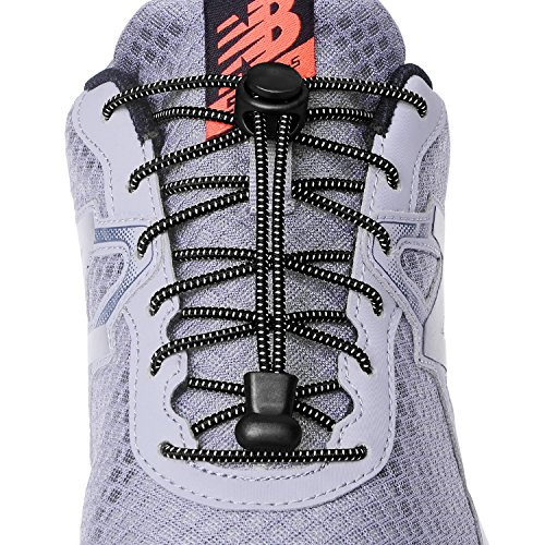 Elastic No Tie Shoe laces for Kids and Adults, Best Lock Shoelaces for Running and Walking Shoes, Ideal for Runners and Sneakers(3 pairs)