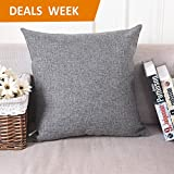 Decorative Pillow Cover - Home Brilliant Decorative Linen Square Throw Pillow Cases Cushion Covers Textured, 18