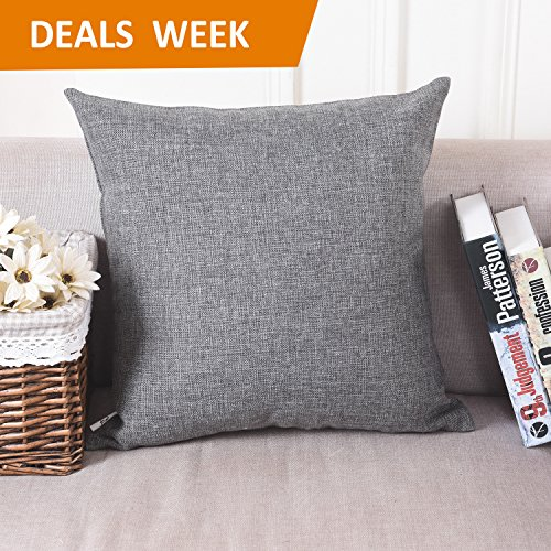 Home Brilliant Decorative Linen Square Throw Pillow Cases Cushion Covers Textured, 18