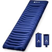 Hikenture Camping Sleeping Pad with Built-in Pillow,Ultra-Thick 5 Inch, Backpacking Sleeping Mat,Ultralight,Inflatable…