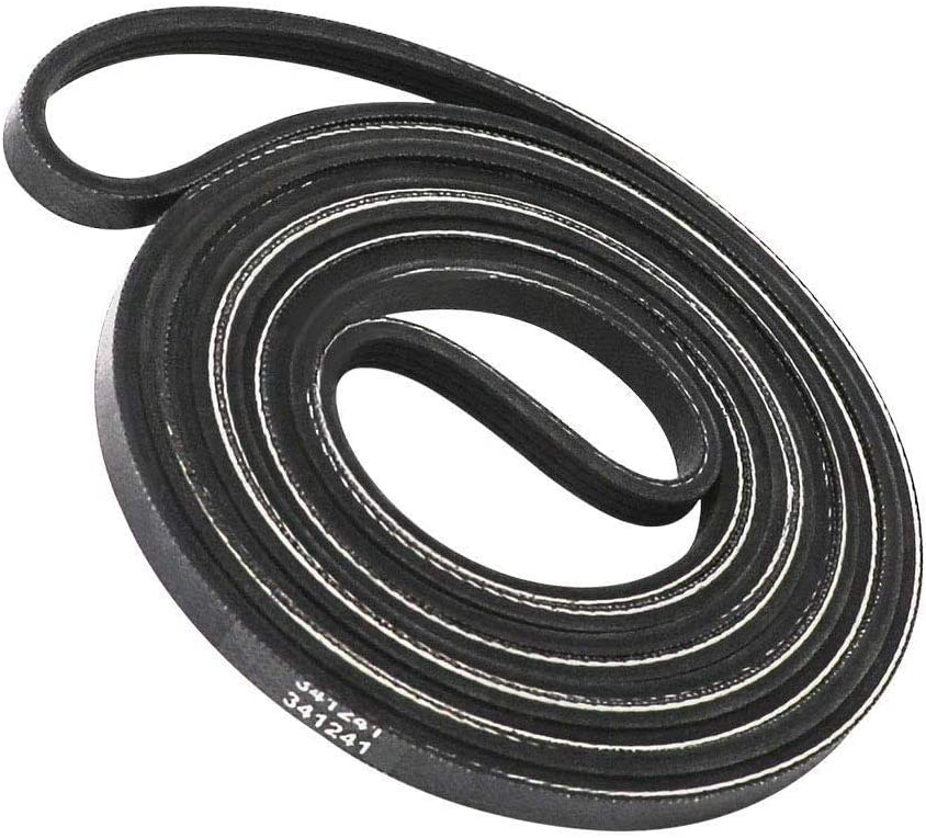341241 Dryer Drum Belt for Whirlpool, Kenmore, Amana, Crosley, Roper. Replace Part 529597, 14210003, 31001026, 31531589, 99906951, 99989673, 99989674, 26000341241, 26000349533, W10127457, W10131364