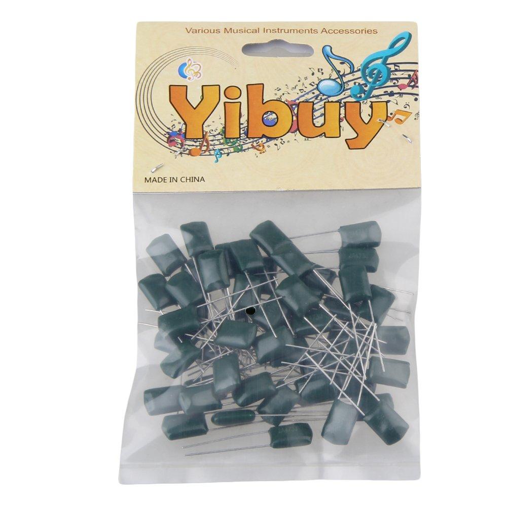 Yibuy verde 0.047u//2/A473J poliestere condensatori film amplificatore per chitarra elettrica o set da 50