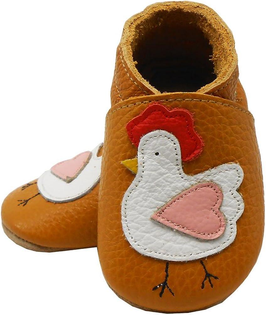 SAYOYO Chausson b/éb/é Chaussure Bebe Garcon Fille Chaussures Cuir Souple Premiers Pas Chaussons B/éb/é