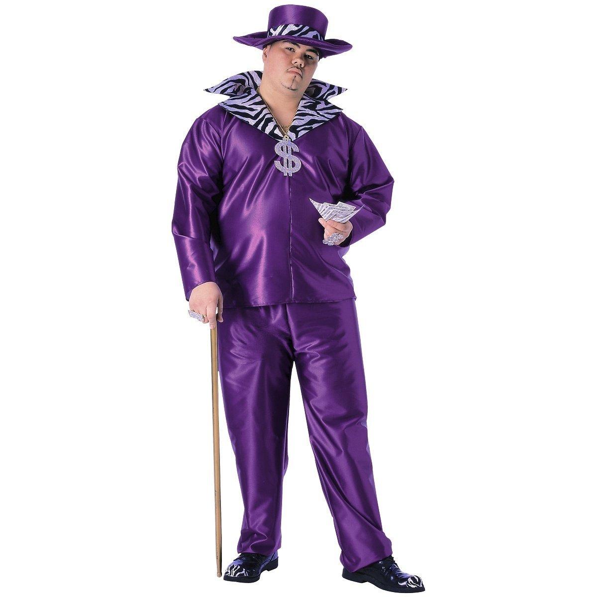 Rubie 's Offizielle Pimp Big Daddy Herren Erwachsenen Kostüm – PLUS Größe