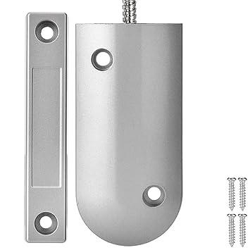 Diyeeni Puerta Enrollable Alarma de Seguridad Detector de Contacto Magnético. El Sistema Antirrobo es Adecuado para Tiendas, Garajes.