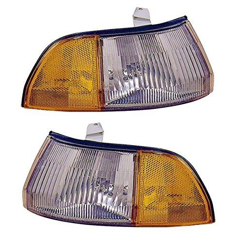 1990-1993 Acura Integra Corner Park Light Turn Signal Marker Lamp Set Pair Right Passenger AND Left Driver Side (1990 90 1991 91 1992 92 1993 ()