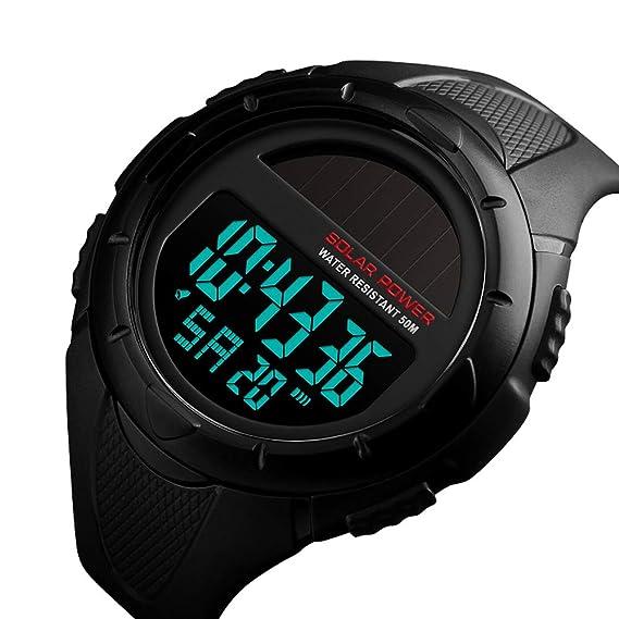Watches Skmei Solar Panels Watch Swim 50m Waterproof Mens Watches Double Display Quartz And Electronics Luxury High Quality Men Clock G