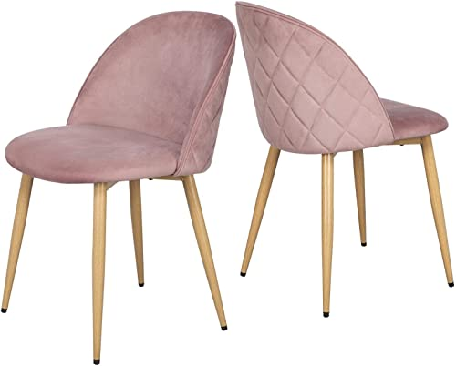 Yaheetech Dining Room Chairs Kitchen/Living Room Chairs Vanity/Makeup/Leisure/Accent Upholstered Side Chair