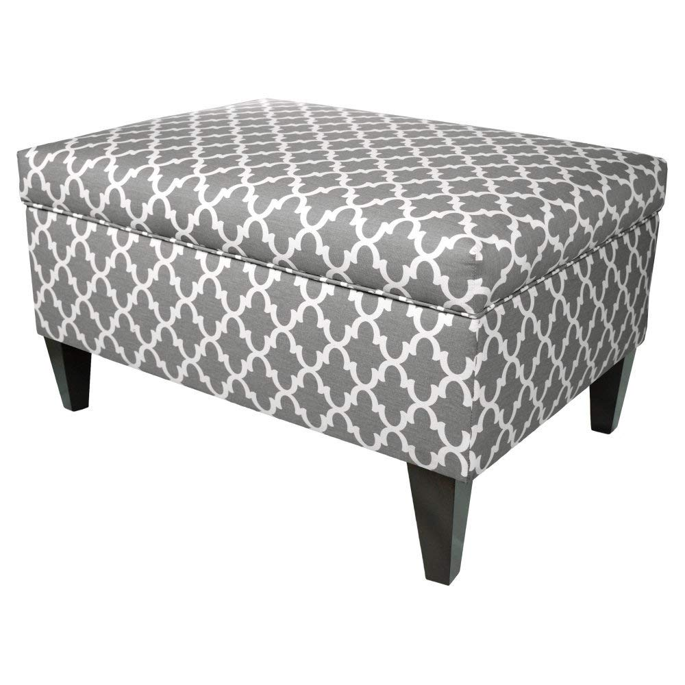 Mystere Series Cosmic BROOKLYN-B-MysCosmic MJL Furniture Designs Brooklyn Collection Large Upholstered Living Room Lift Top Storage Ottoman