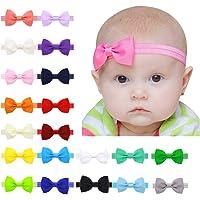 20 colores Diademas Bebe Niña,Diademas Elásticas para niñas,Bowknot