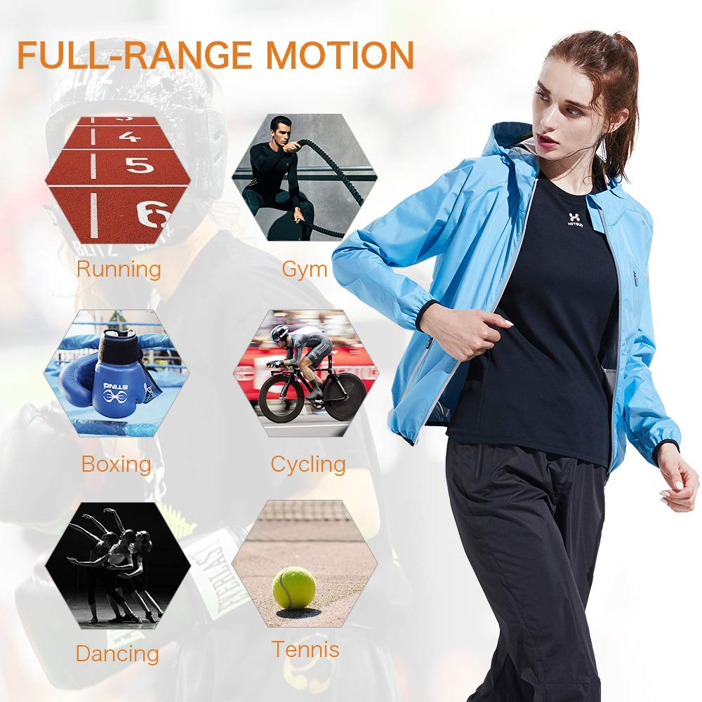 HOTSUIT Sauna Suit Weight Loss for Women Slim Fitness Clothes (Blue,Small) by HOTSUIT (Image #7)