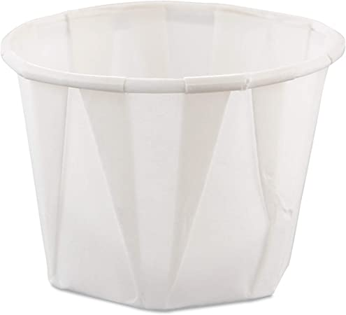 White Pack of 250 T181 Disposable Sauce Dish