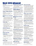 Microsoft Word 2010 Advanced Quick Reference Guide (Cheat Sheet of Instructions, Tips and Shortcuts – Laminated Card)