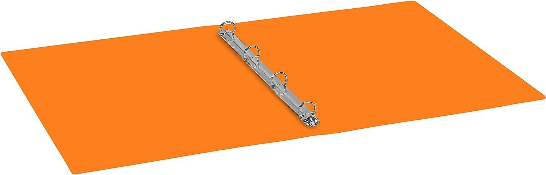 Favorit 400102311 Raccoglitore Polipropilene Neon  22X30 cm 4 Anelli Tondi Diametro 30 mm Giallo Fluo