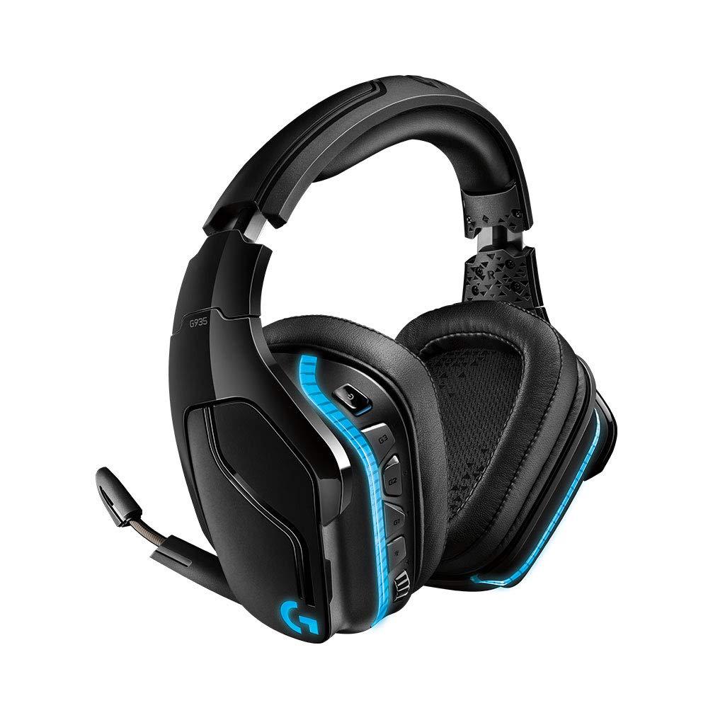 Logitech G935 - Auriculares inalámbricos con micrófono y Sonido Envolvente 7.1 para Gaming, transductores Pro-G de 50 mm, RGB LIGHTSYNC: Logitech: ...