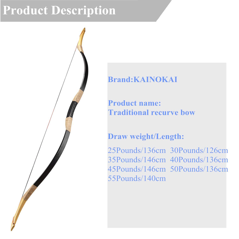 Amazon Com Kainokai Traditional Handmade Longbow Horsebow Hunting