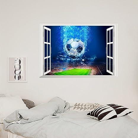 ZNXZZ Dekorative Kunst Windows Fußball Motive Poster ...