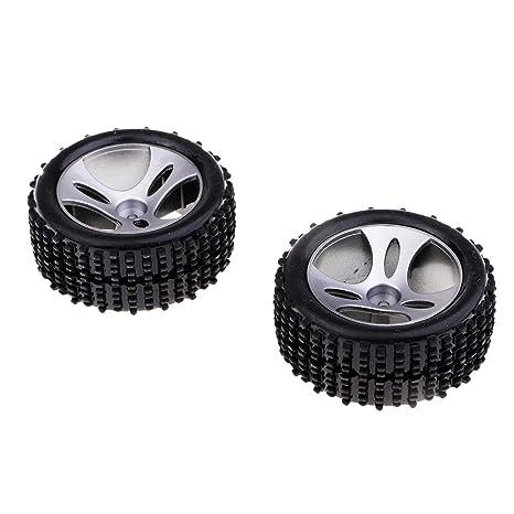 Homyl 2 pcs Neumáticos Ruedas Llanta A959-01 para WLtoys A959 1/18 RC
