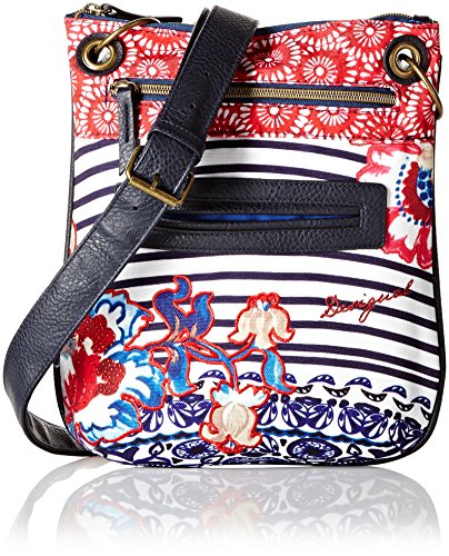 Desigual Womens Bandolera Kimera Cross Body Bag Azul Mazarine