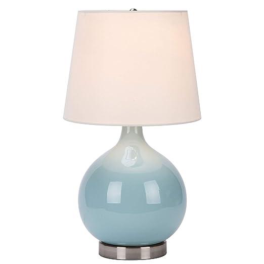 Amazon.com: CO-Z Lámpara de mesa moderna de cerámica azul ...