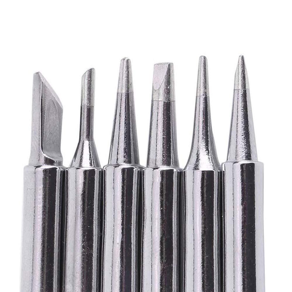 ATTEN Radio Shack Quick estaci/ón de soldadura Yihua 10 piezas 900M-T Kit de puntas de soldador de repuesto para Hakko Gobesty Kit de puntas de soldador Aoyue TENMA