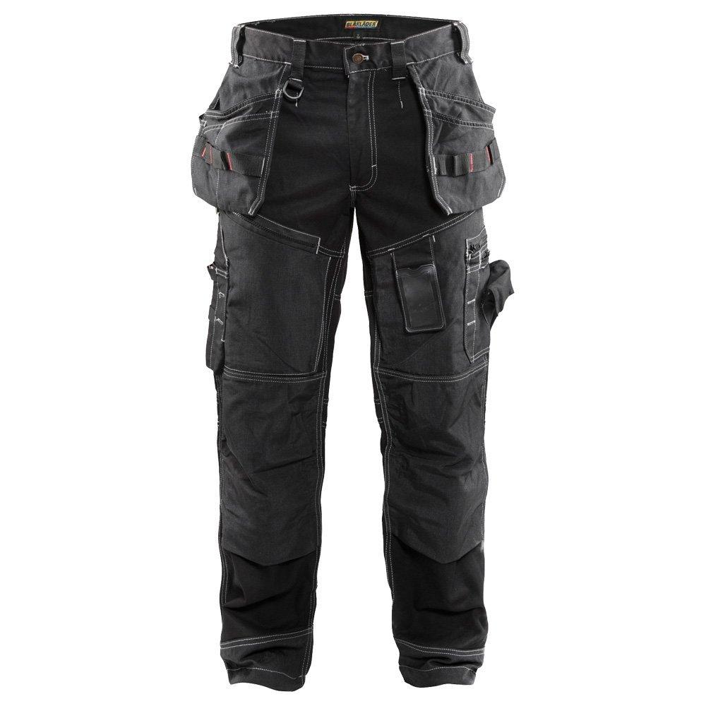 Blaklader 150013709900C44 X1500 Trousers Craftman, Size 30/32, Black
