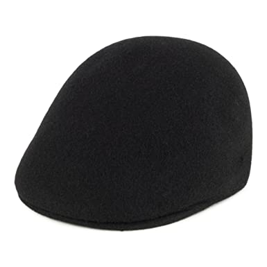 4bf163c575d Kangol Hats Seamless Wool 507 Logo Flat Cap - Black  Amazon.co.uk  Clothing