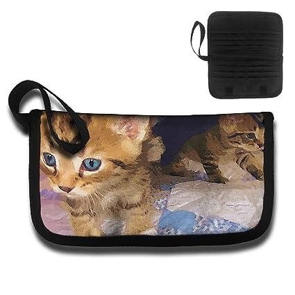 Gili Watercolor Naughty Cat Travel Wallet Travel Passport /& Document Organizer Zipper