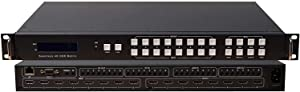 8x8 Seamless HDMI 4K HDR Matrix Switcher 18GBPS Ultra YUV 4:4:4 HDCP2.2 60Hz HDMI 2.0B Doby Atmos HDTV Routing SELECTOR SPDIF Audio CONTROL4 Savant Home Automation Switch IP RS232
