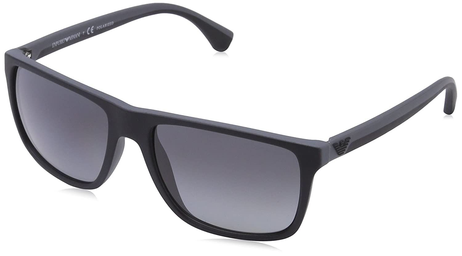 EMPORIO ARMANI Men\'s 4033 0EA4033 5229T3 56 Rectangular Polarized ...