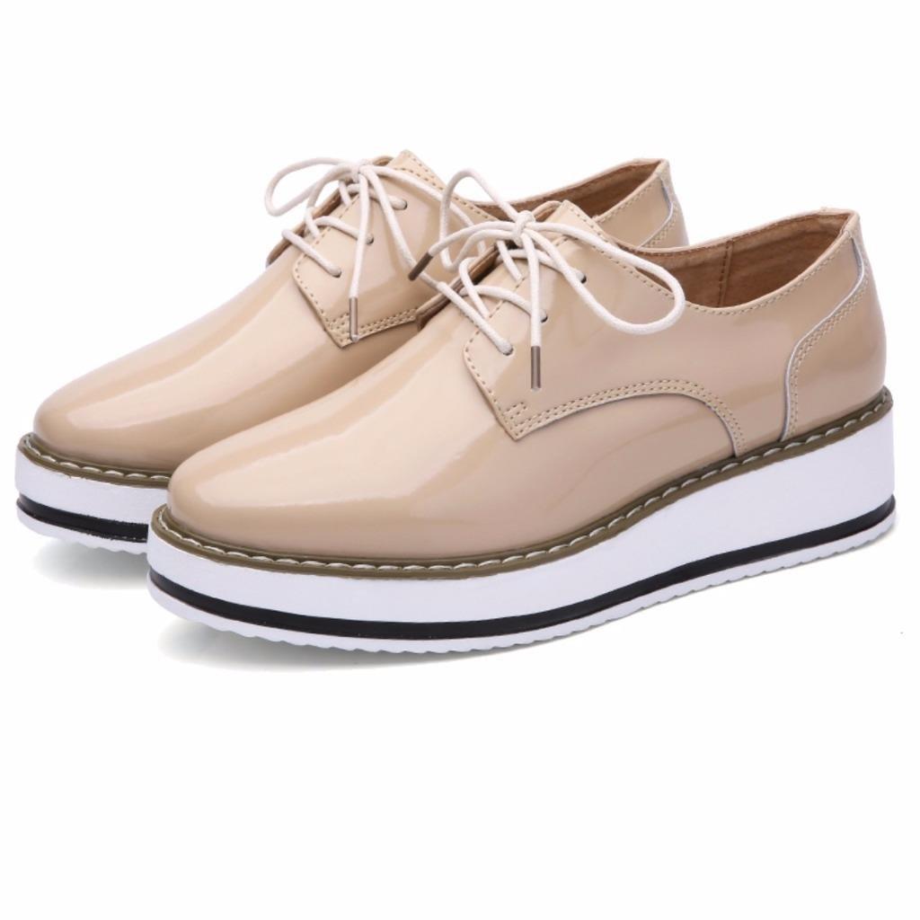 Oxfords En À Femme Chaussures Derbies Lacets Moonwalker Cuir 0fq7Ownwx