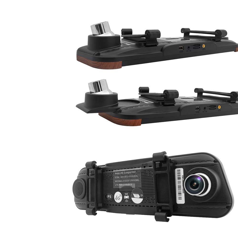 9 pouces double lentille 1080p R/étroviseur de voiture 4G WiFi Android 5.1 DVR navigation GPS Angle de tir surdimensionn/é R/éduire les risques conduite