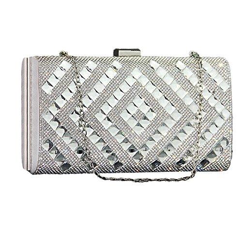 SSMK Evening Bag - Cartera de mano para mujer plateado plata