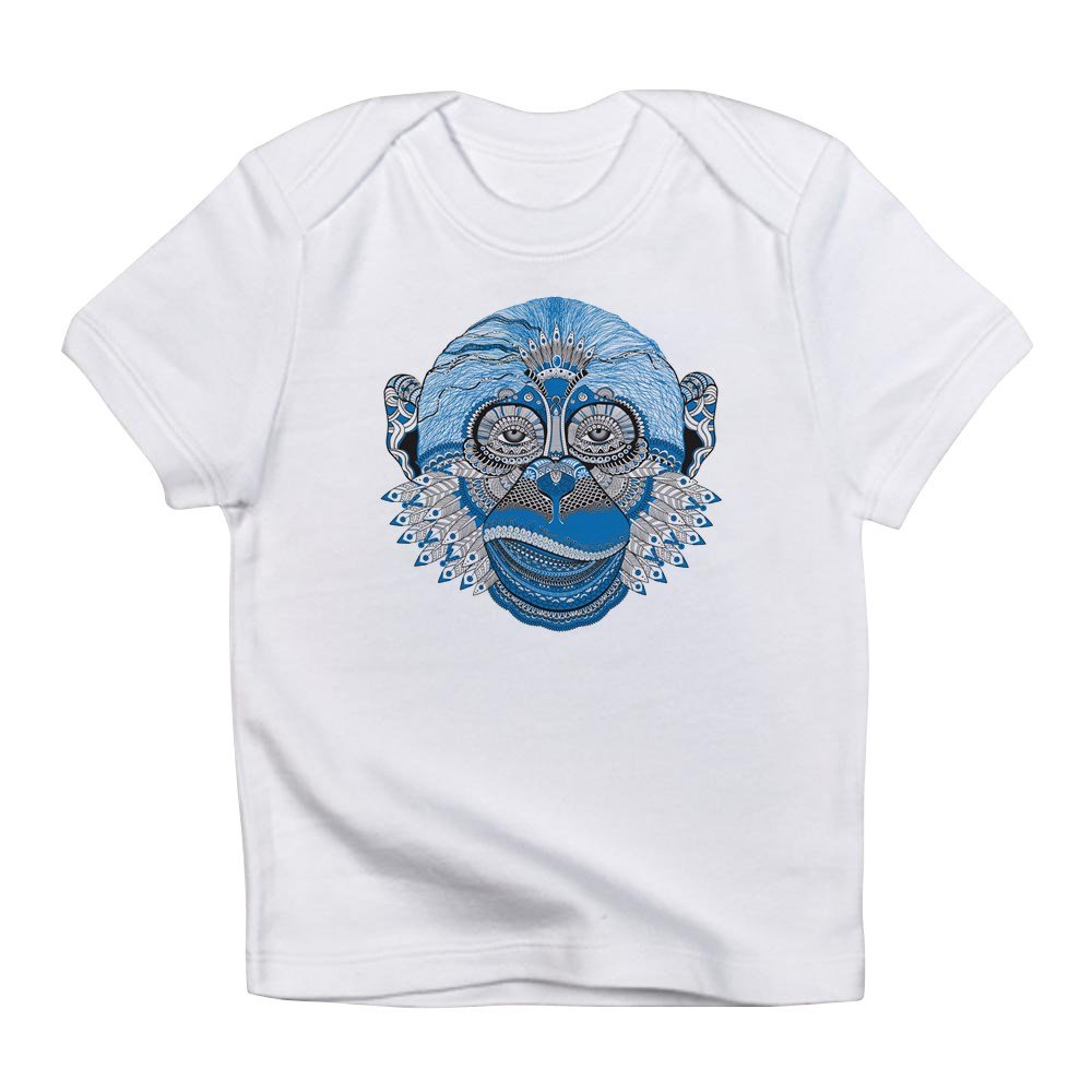 Cloud White Truly Teague Infant T-Shirt Chinese New Year Monkey 2016 Lucky Blue 3 To 6 Months