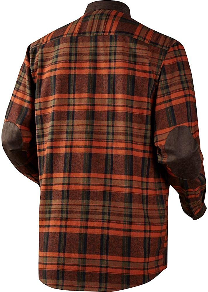 Harkila Pajala shirt Burnt orange check