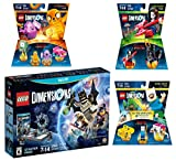 Lego Dimensions Starter Pack + Adventure Time Finn The Human Level Pack + Jake The Dog Team Pack + Marceline The Vampire Queen Fun Pack for Nintendo Wii U Console