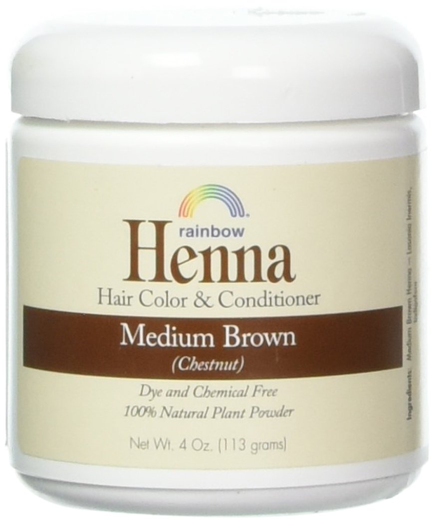 Rainbow Research Henna Hair Color and Conditioner Persian Medium Brown Chestnut - 4 oz UNFI - Select Nutrition 000518400040