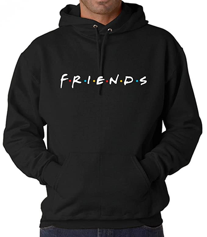 Uzair Friends TV Show Hoodies Unisex (Black, Large)